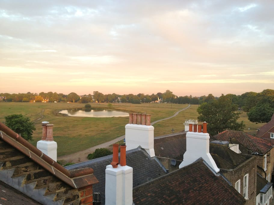 View from the loft suite over the common