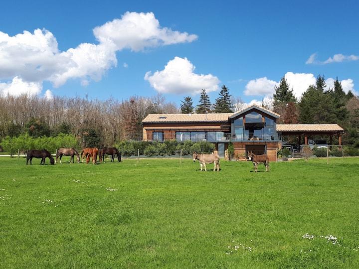 Agréable villa au cœur de la campagne