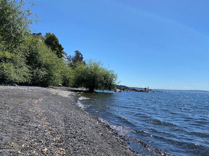 Cabaña, frente al Lago
