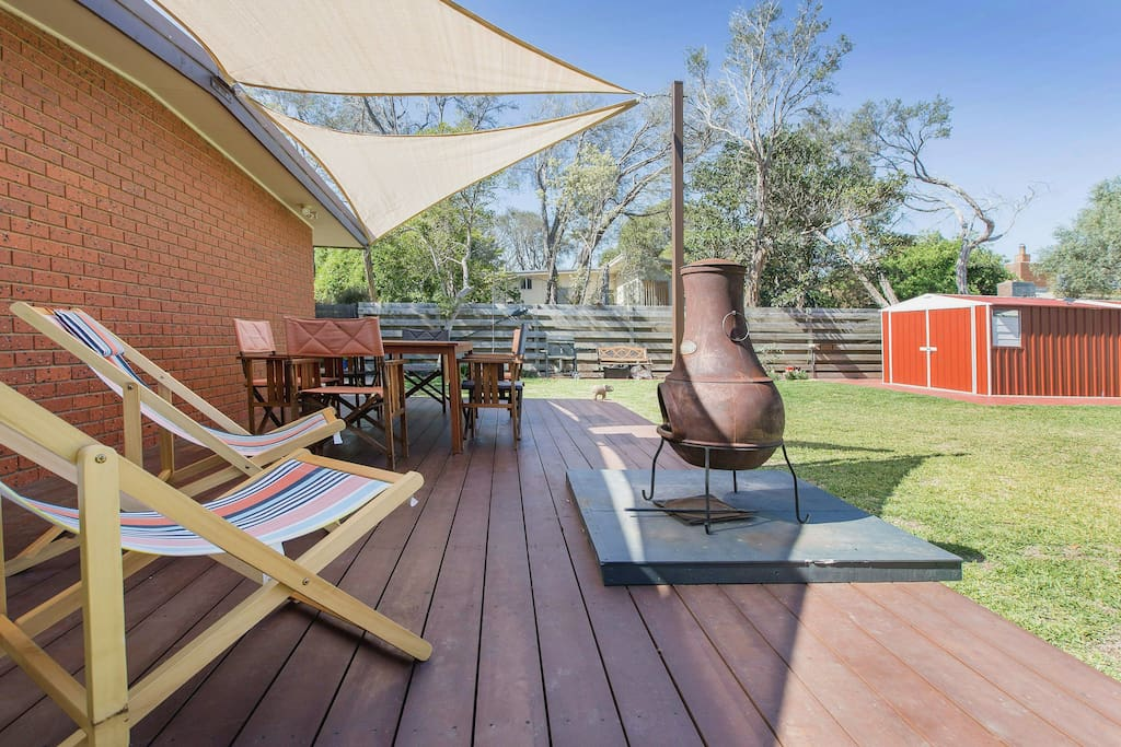 Big backyard, just right for family celebrations