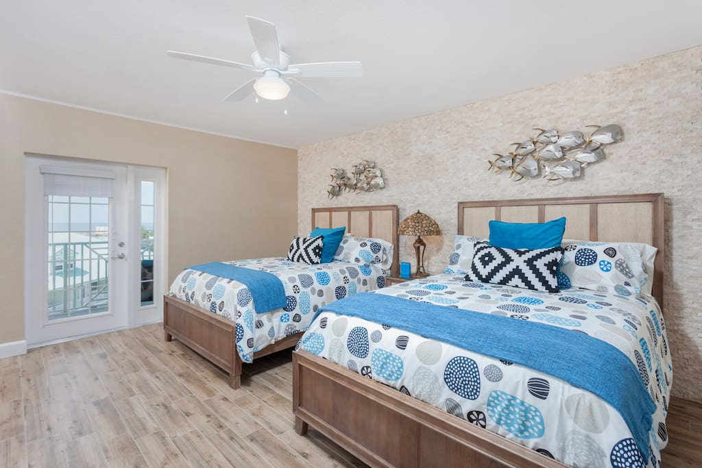 2 Queen Size Beds. Door opens to Balcony Overlooking Waterpark, as well as Gulf & Intercostal Views