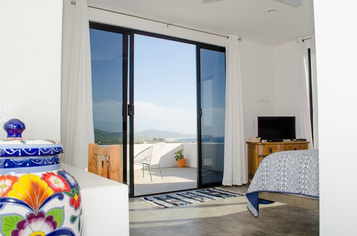 Wake up to views like this from the luxurious master bedroom