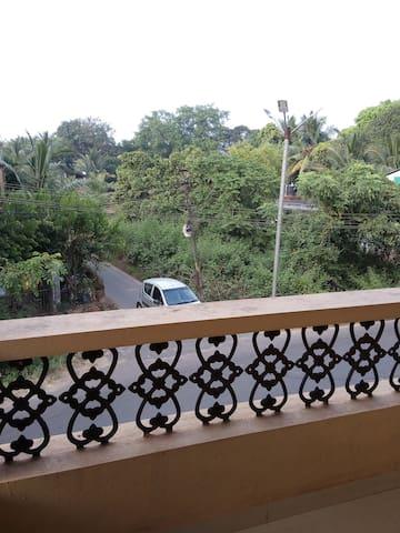 Outside balcony view
