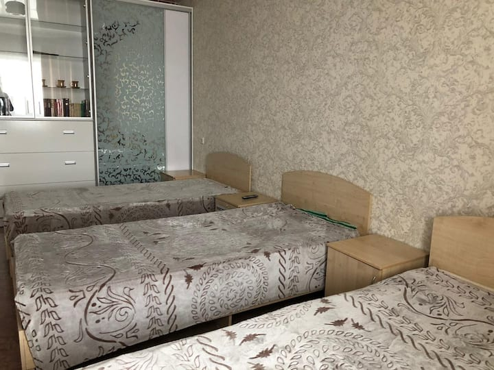 Квартира в 2ух минутах от аэропорта Толмачёво.