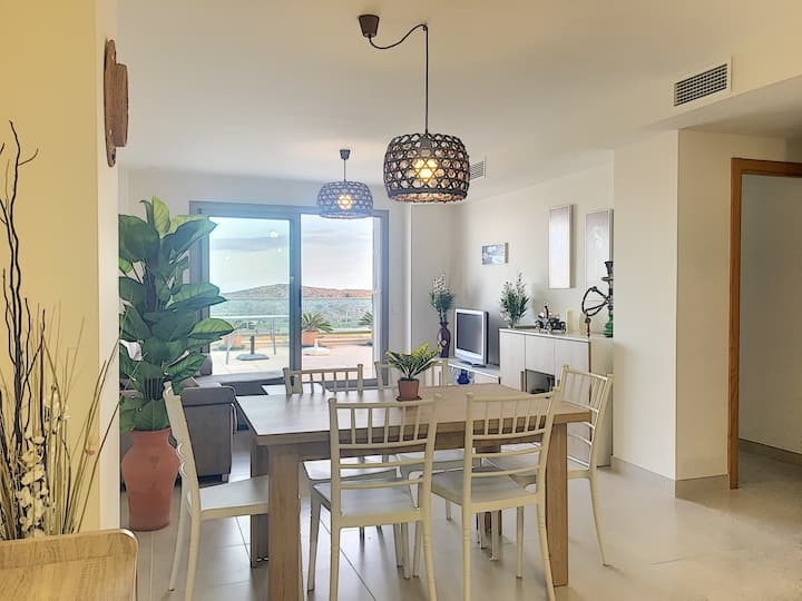4218-Beautiful first line golf apt with terrace