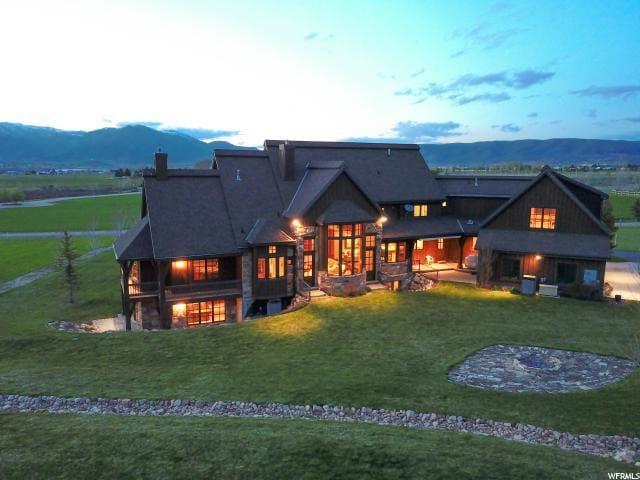 9,900 sf, 9 br, 19 acre World Class Rustic Estate