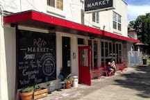 Ps&Qs Market. A sweet little neighborhood market that is a quick bike ride or drive away. The market is stocked with lots of local and fresh goodies.