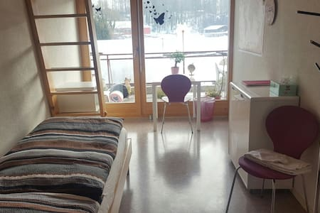 Comfortable room (CHF 40) with gallery and balcony - Ringgenberg - Lejlighed
