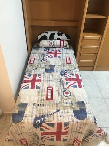 19€ habitación 3 camas individual