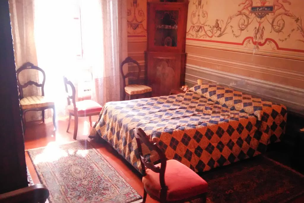 Camera matrimoniale con vista Lago di Bolsena.