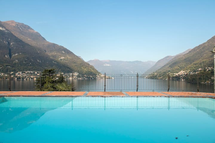 Stunning views and swimming pool - Faggeto Lario  - Huoneisto