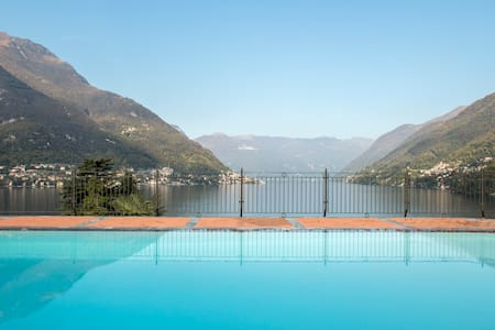 Stunning views and swimming pool - Faggeto Lario  - Apartmen