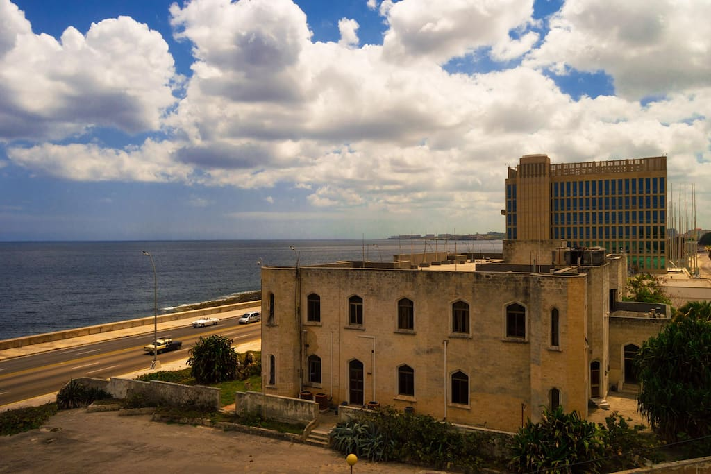 View of the Malecon Habanero from the balcony