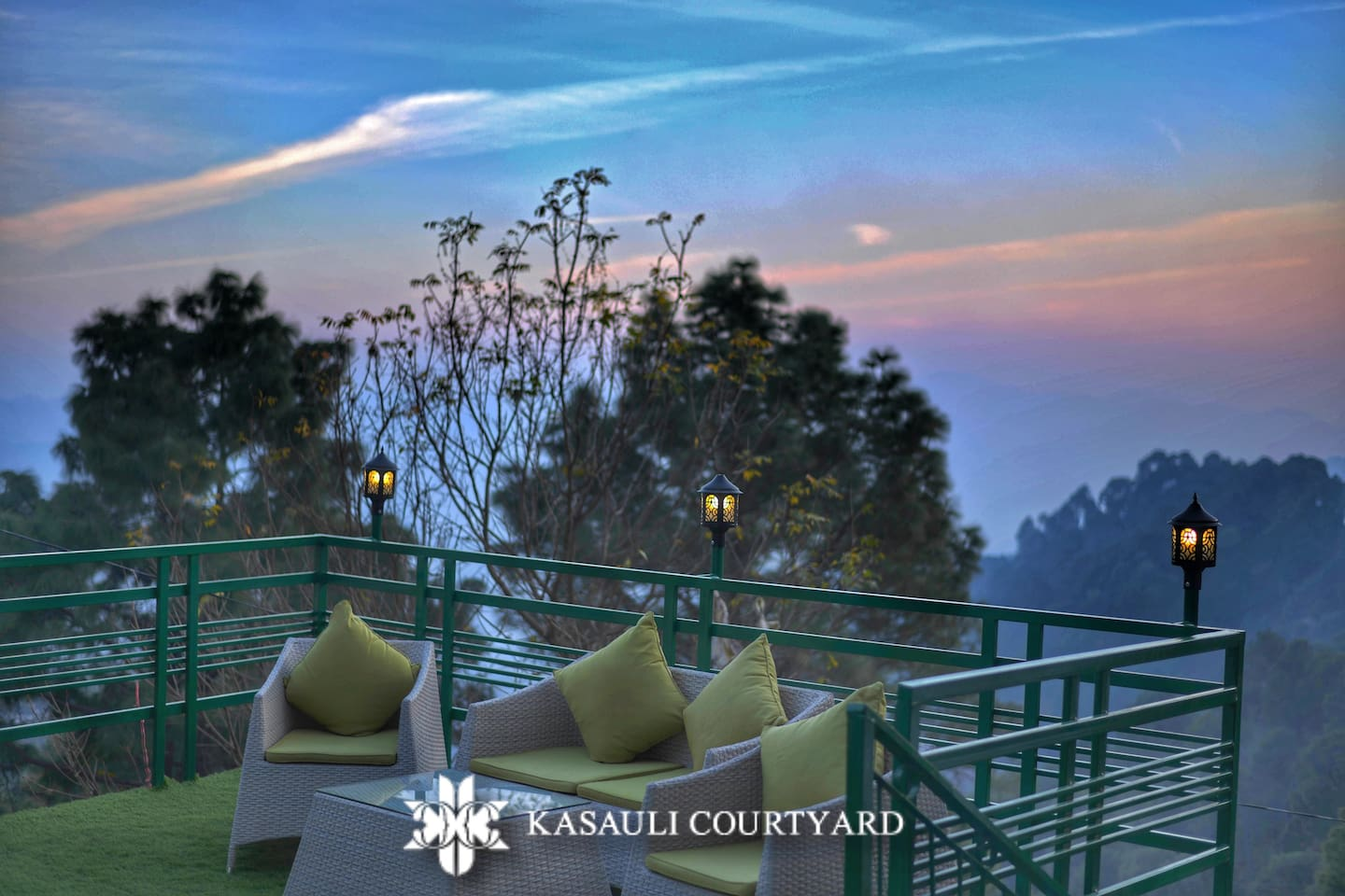 Kasauli Courtyard's terrace offers mesmerizing view of the valley. Gaze into the sky and enjoy your evening cup of coffee in the serene environment.