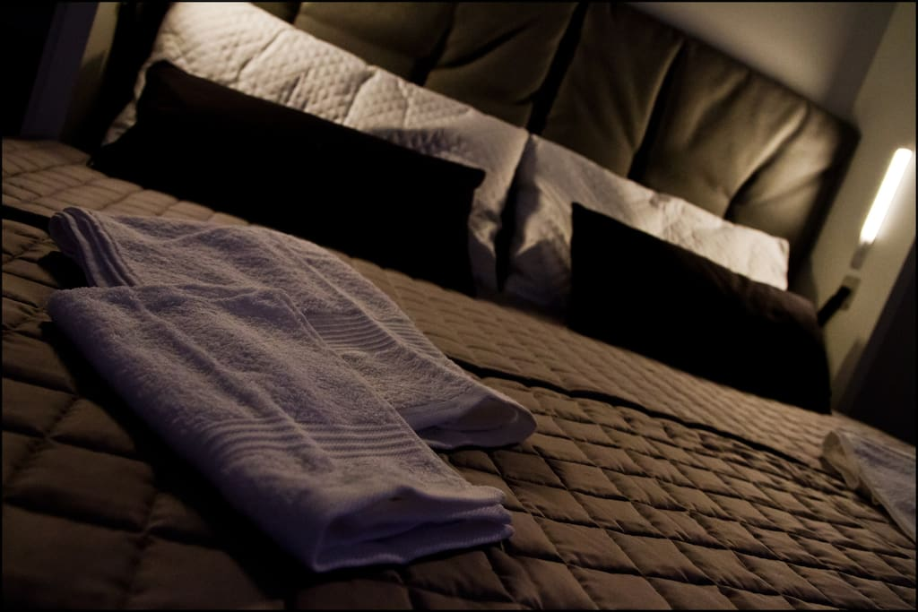 The Double Bed and the Towels Equipment