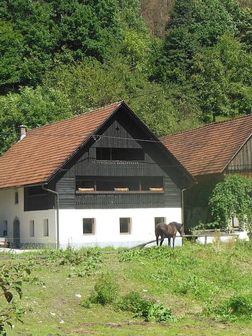 250 year old traditional Slovenian farmhouse