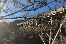 Oak Creek canyon historic bridge.