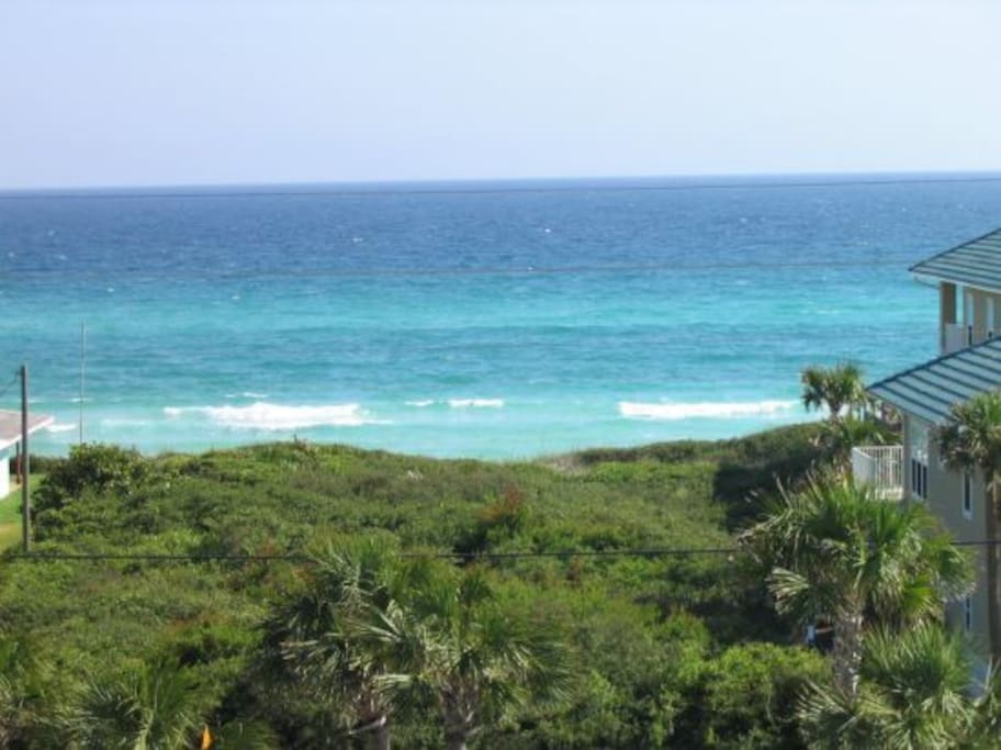 This is the stunning Gulf View from the oversized balcony of our Cabana.
