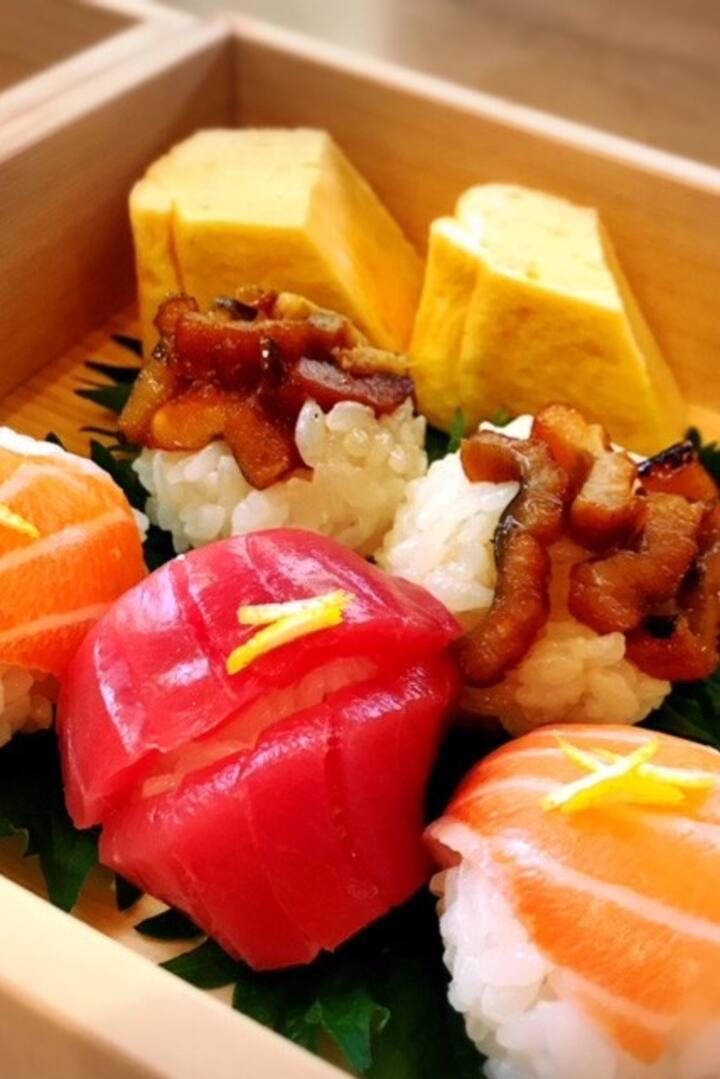 Fresh fish ball sushi