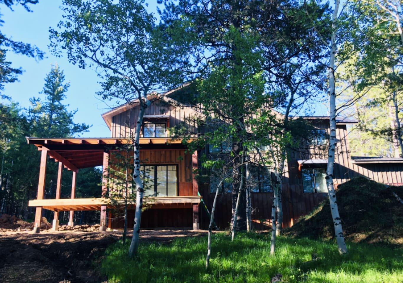 Rustic Modern Barn Style House Amongst The Trees, Teton Valley, ID.