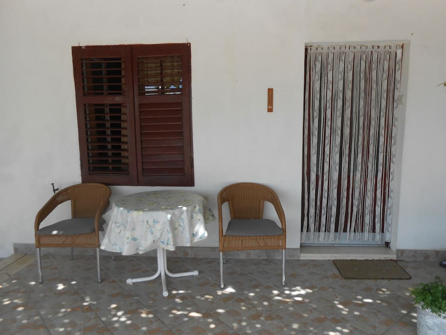 sitting area on terrace
