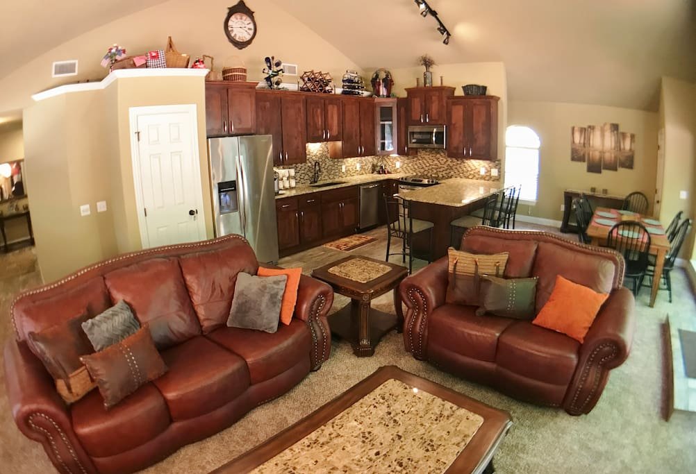 Leather, Granite, and Stainless Furnishing