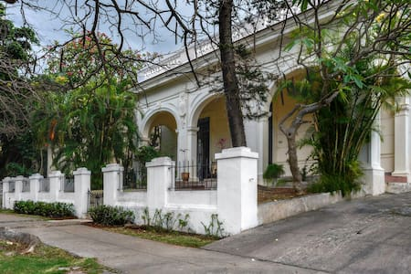 Neo- colonial Mansion in Havana, Cuba.