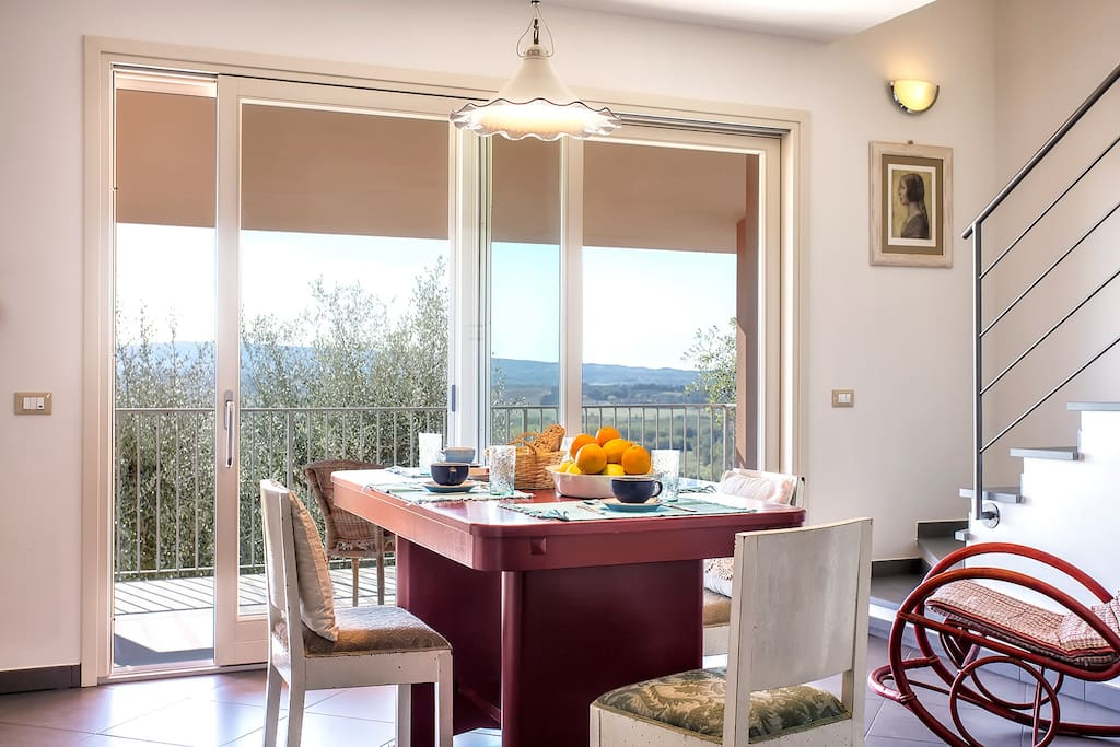 Cucina e terrazza panoramica