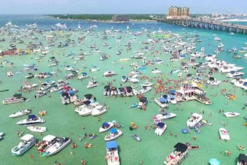 Go out to  Crab Island