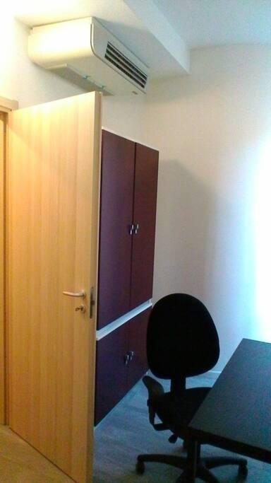 armadio e splitter della camera