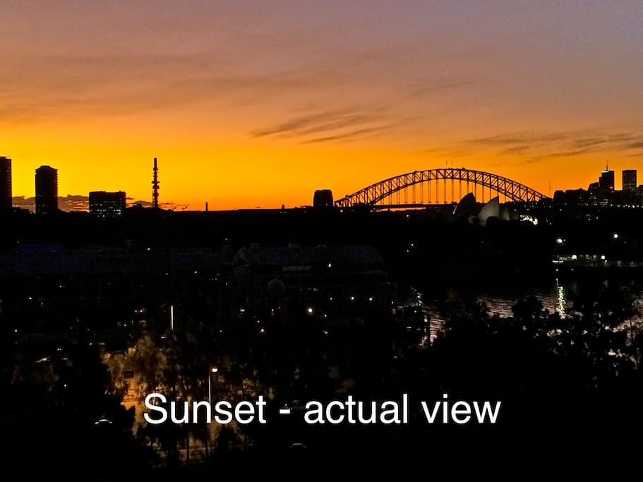 Sunset - actual view