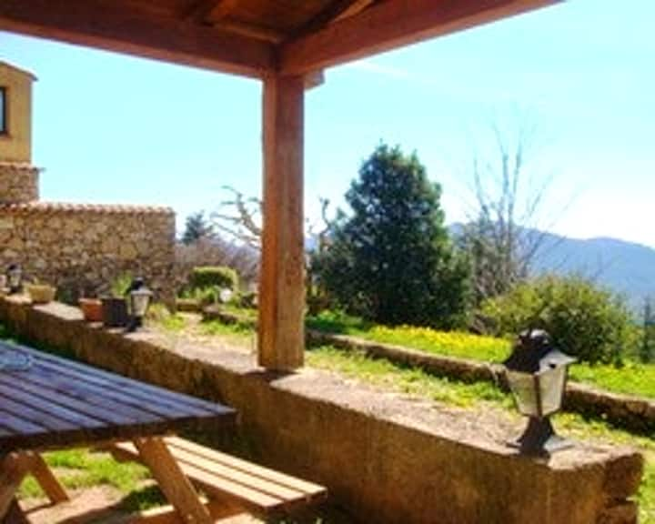 House with 3 bedrooms in Camps-sur-l'Agly, with wonderful mountain view, enclosed garden and WiFi - 75 km from the slopes