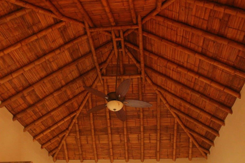 bamboo roof in elegant room