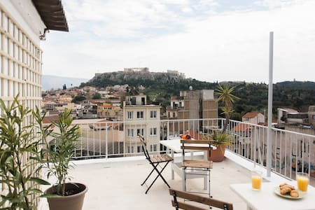 Acropolis view & Rooftop - Athina - Daire