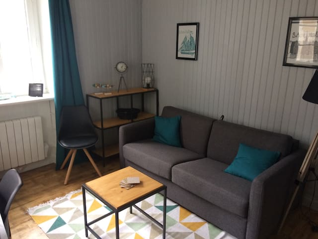 Intra-muros studio charmant et cosy 50m plage - Saint-Malo - Appartement