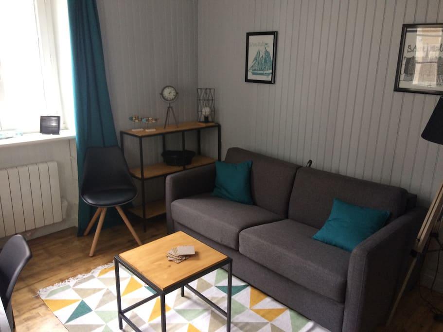 Canapé-lit confortable,matelas bultex