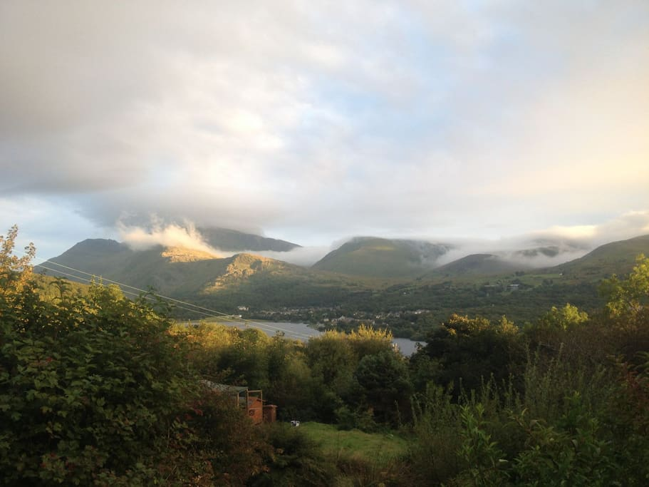 View from house: Snowdon early morning