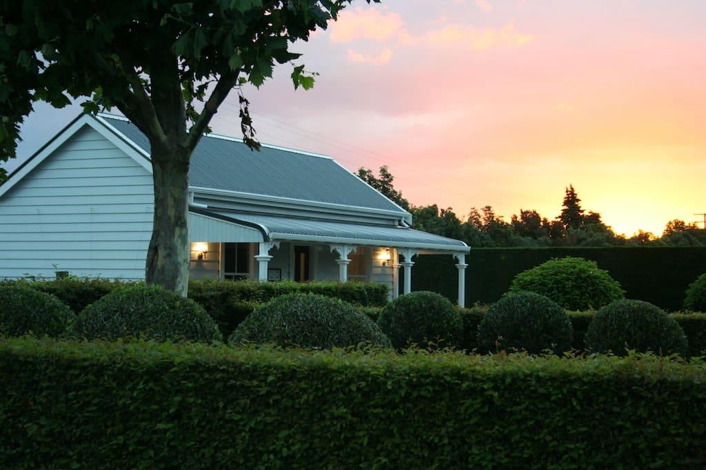 Cottage at dusk