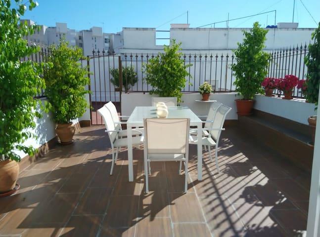 Precioso ático, céntrico, con terraza privada