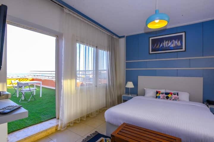 Modern Studio Room Hurghada Marina Sea View