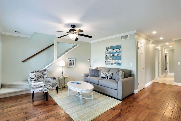 Quiet Living area with sofa sleeper