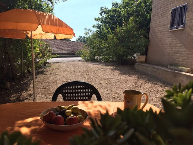 Apartment with garden in Assisi ( vicinity) .