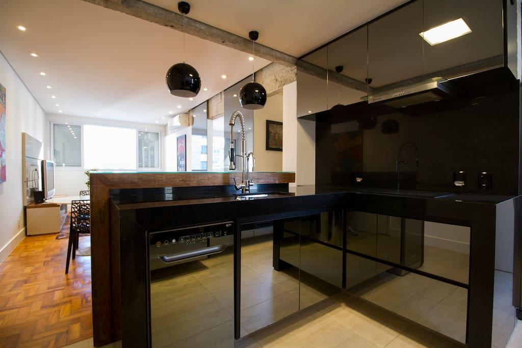kitchen,and living room