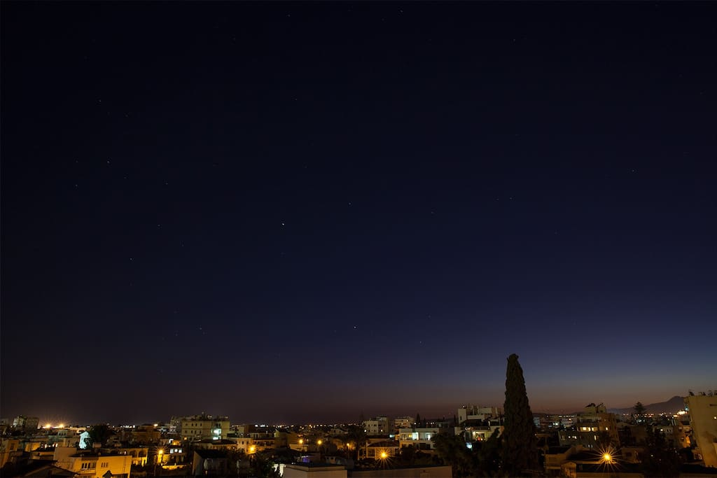 the sky at night from veranda