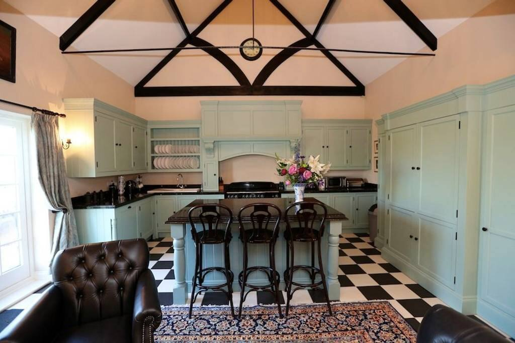 Luxury granite topped, open plan kitchen
