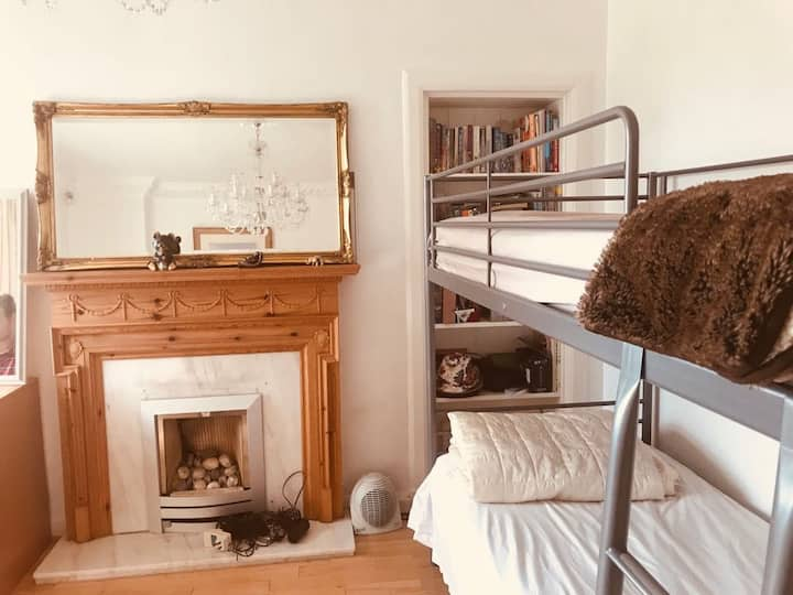 Large Bedroom with Double Bed + Bunk Bed