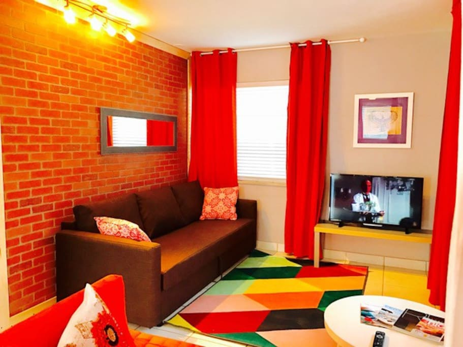 Living room / double size sleeper sofa.
