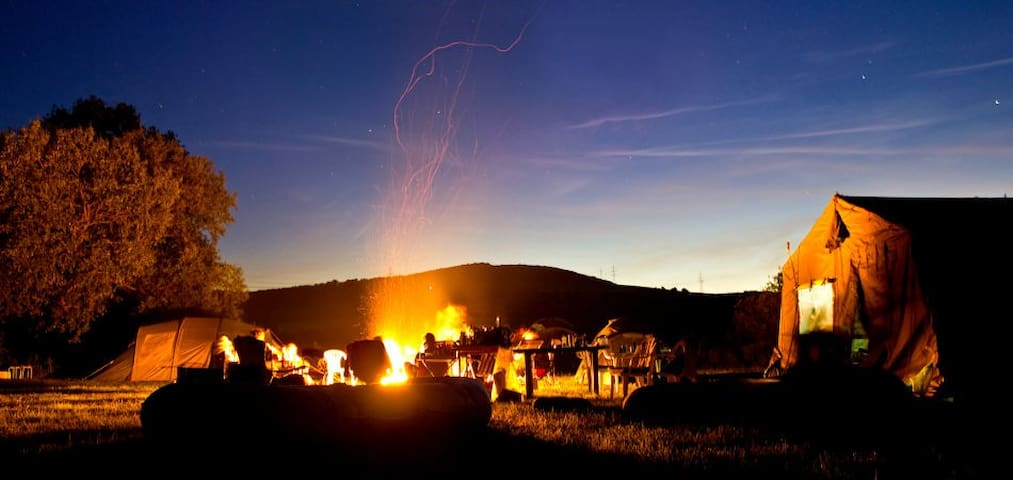 Group Camping Space, Fire-pit, Tepee & Facilities