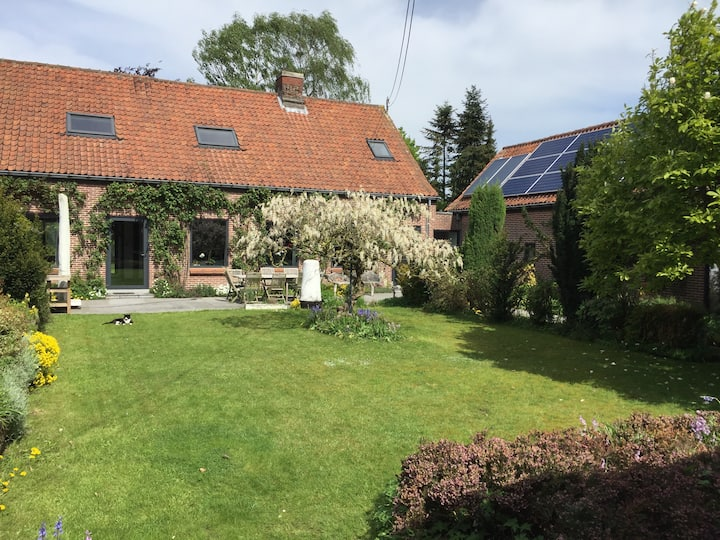 Renovated farmstead with covered swimming pool