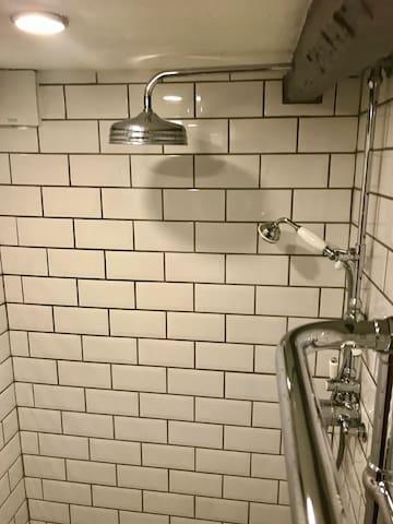Master bedroom's shower.